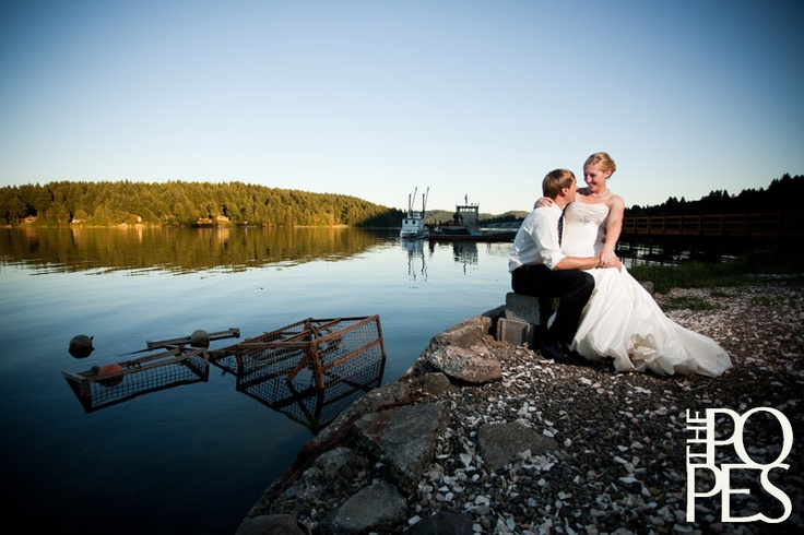 A shellfish wedding on Eld Inlet.