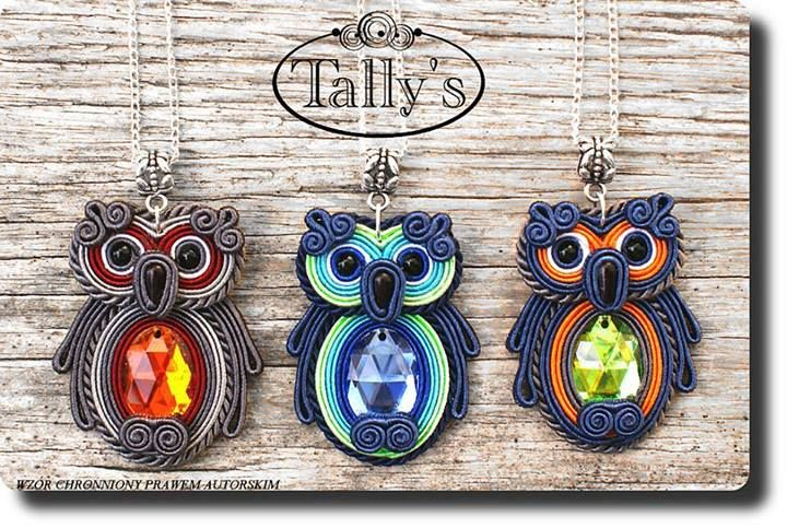 cute soutache owls maybe idea for polymer clay