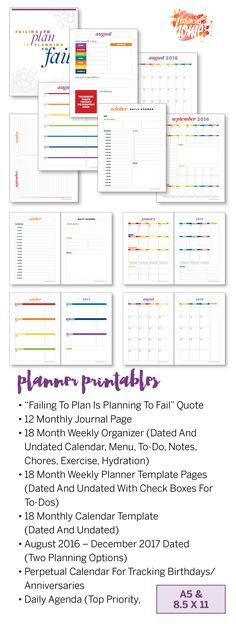 24 best Mini Planner printable images on Pinterest Calendar, Free - Agenda Planner Template