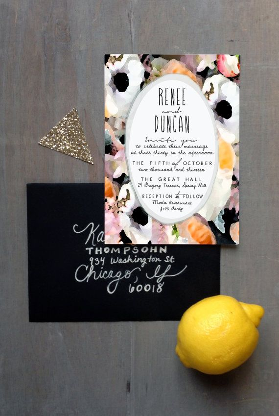 Beautiful water colour invite