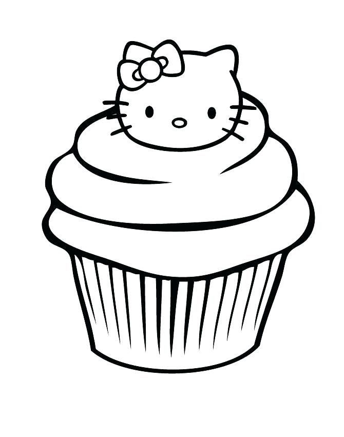 Birthday Cupcakes Coloring Pages Cupcakes Coloring Sheets Birthday Cupcake Coloring Page In 2020 Hello Kitty Coloring Kitty Coloring Cupcake Coloring Pages