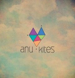 Anu-Kites Logo www.anukites.com ♫ by Elia Laourda www.elialaourda.com #anu #kites #presskit #clouds #sky #cd #packaging #packagingdesign #logo #logodesign #heart #triangle