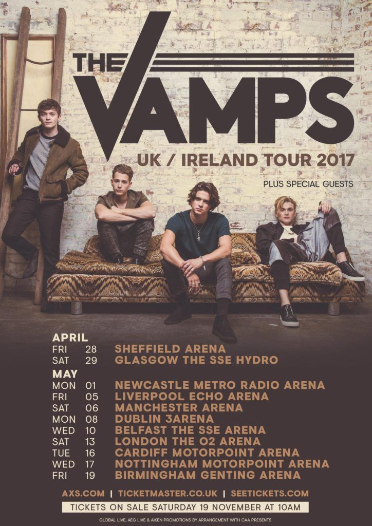 | THE VAMPS TOUR 2017 TICKETS ON SALE TODAY! | http://www.boybands.co.uk