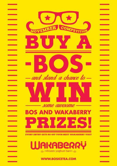 Stand a chance to win instant prizes with Wakaberry and BOS this November!  For more details:  http://www.wakaberry.co.za/bos/
