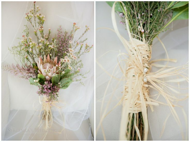 bridal bouquet protea soft pastel | Rianka's Wedding Photography