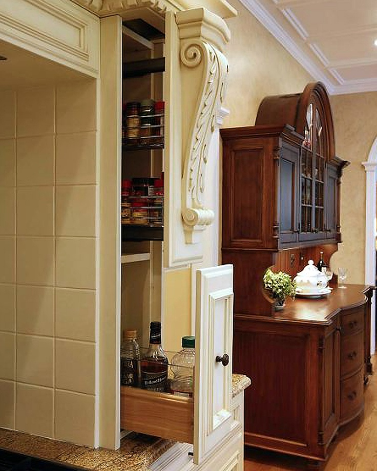 Large Pull Out Spice Racks And Cooking Sundries Space Right Where They Are  Needed Most