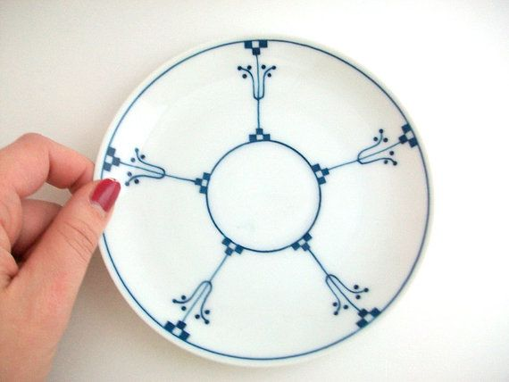 Vintage Plate Delft Plate Blue & White Plate by MustardDandelion