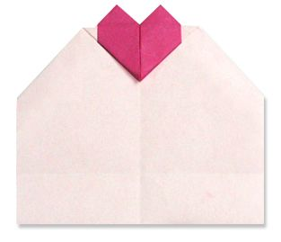origami Heart Message Card