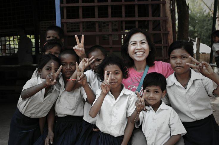 Delightful hi from little students #VietnamSchoolTours