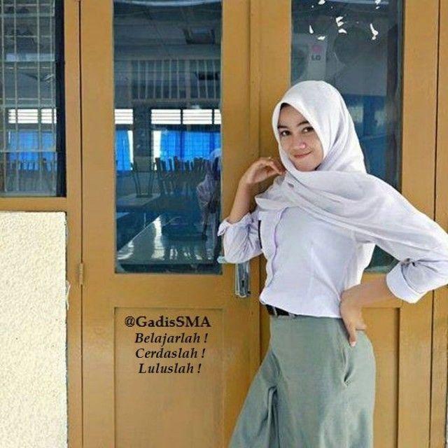 Photo Gadis SMA Cantik berjilbab Putih