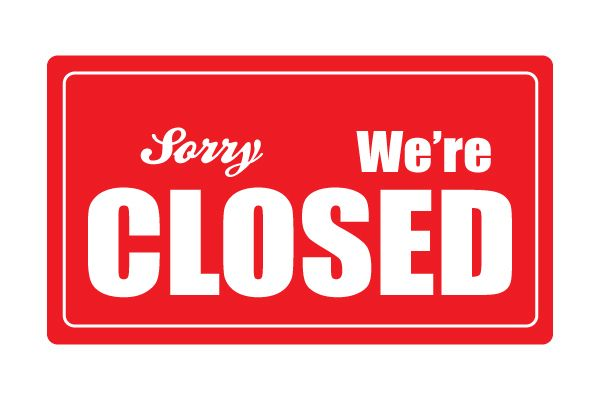 Peaceful image pertaining to printable office closed signs