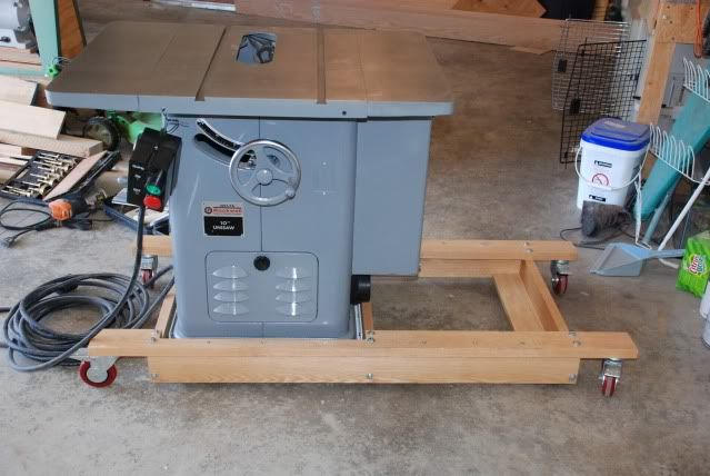 """Mobile base for Cabinet saw with 52"""" rip"""