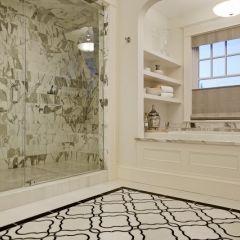 New bathroom ideas - love the floor