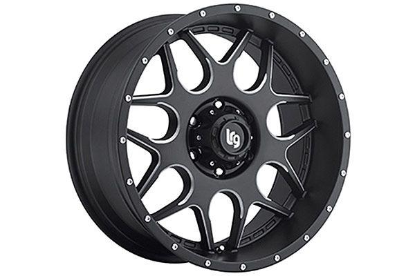 LRG 104 Machine Black Wheels - Best Price on LRG104 Machined Black Rims for Trucks