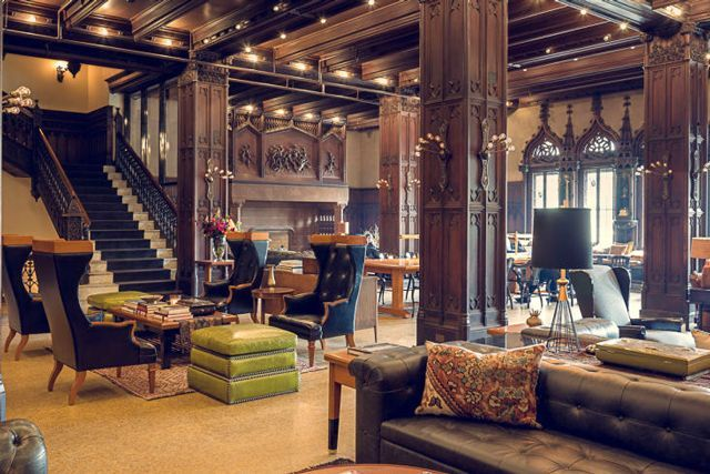 Chicago Athletic Association (Chicago, Illinois)This chic new property is a former gentleman's athletic club turned boutique hotel. The space pays homage to its history with genius design elements: A pommel horse is converted into a bench; a wooden gym ladder is reborn as a storage w...
