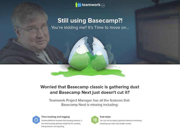 Teamwork vs Basecamp - Landing Page by Ivo Ivanov