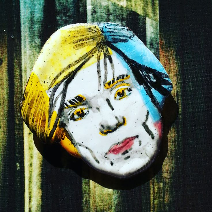 hot enamel jewelry pin Andy Warhol