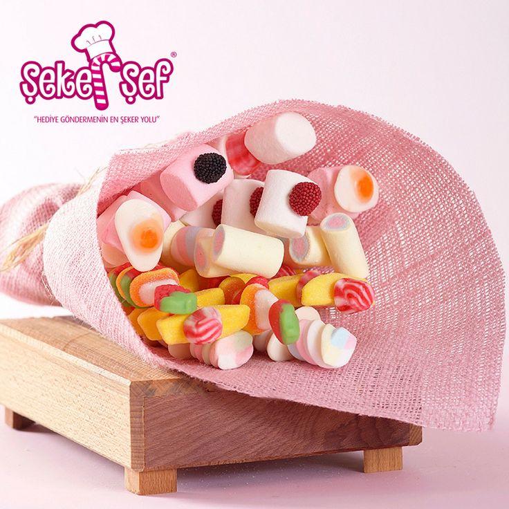 Sevdiklerinize Gönderebileceğiniz, Rengarenk Şeker Buketi Çeşitlerimizi İncelediniz Mi? 😍 >> http://www.sekersef.com