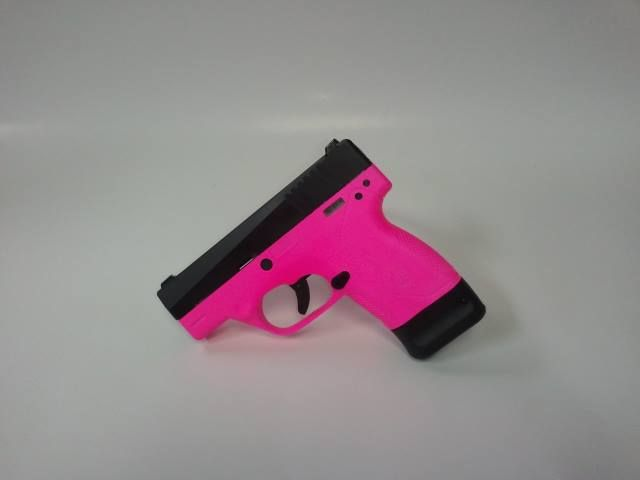 Hot Pink Beretta Nano 9mm Pistol (It's so pink, it's a little washed out in the photo, but you get the picture :0) - www.tzarmory.com