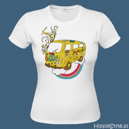koszulka T-shirt kolorowa HIPPIE VAN