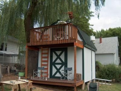 69 best treehouses playhouses sheds images on pinterest for Two story shed plans free