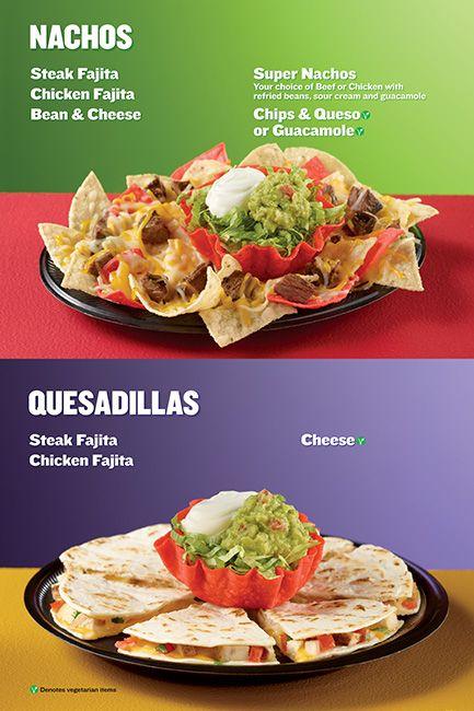 Taco Cabana Nachos and Quesadillas