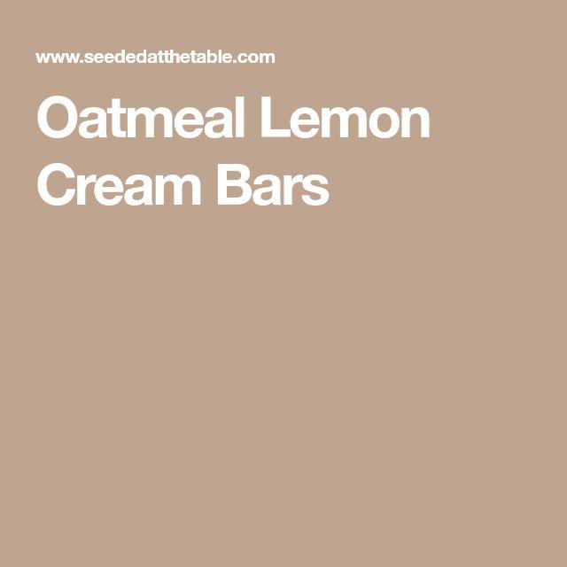 Oatmeal Lemon Cream Bars