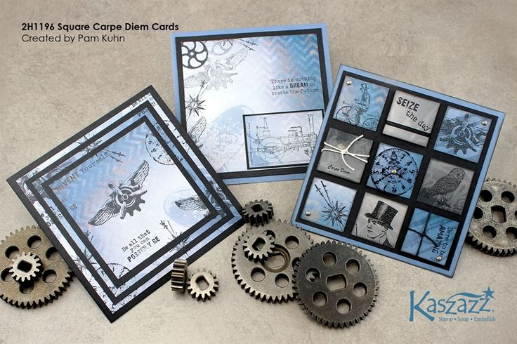 2H1196 Square Carpe Diem Cards