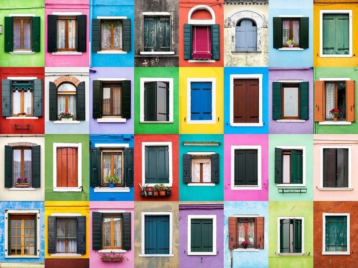 Burano, an island in the Venetian lagoon, is famed for its colorful houses, giving Gonçalves plenty to work with.
