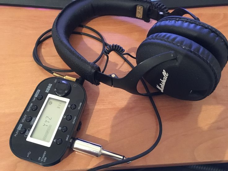 Korg Pandora mini Marshall monitor headphones