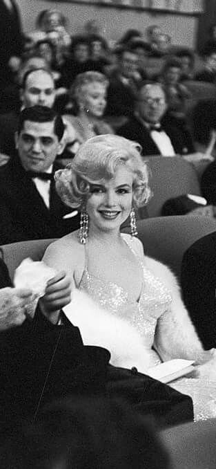 """Marilyn and Arthur Miller at the premiere of """"Some Like It Hot"""" at Lowe's Capitol Theatre, New York, March 29th 1959."""