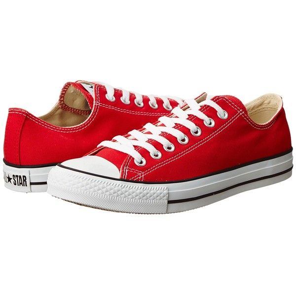 Converse Chuck Taylor All Star Core Ox (Red) Men's Classic Shoes (155 BRL) ❤ liked on Polyvore featuring men's fashion, men's shoes, men's sneakers, shoes, converse, sneakers, sapatos, red, mens red shoes and converse mens sneakers