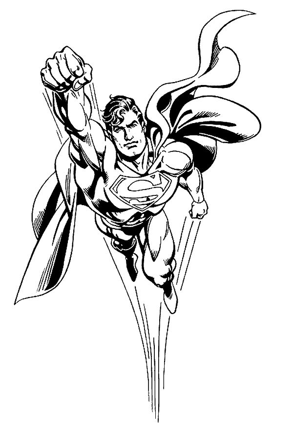 Superman color page cartoon characters coloring pages Coloring