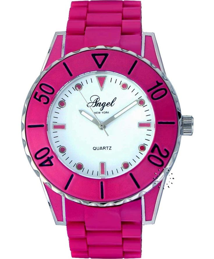 ANGEL Fuchsia Plastic Bracelet  65€  Αγοράστε το εδώ: http://www.oroloi.gr/product_info.php?products_id=31512