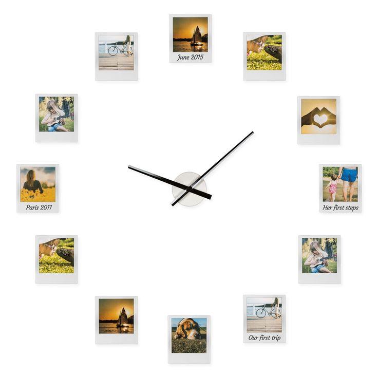 Zegar z ramkami na zdjęcia Impressions Clock - Prezent poleca ZróbPrezent.pl