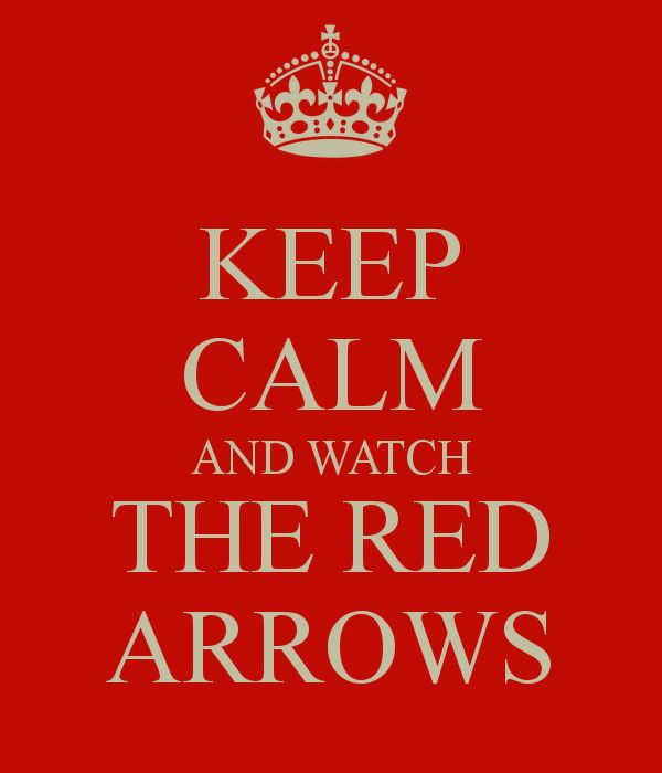 KEEP CALM AND WATCH THE RED ARROWS