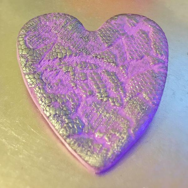 OOAK Hand Made Heart Brooch - #5705   Stall & Craft Collective