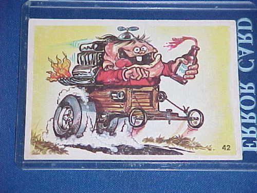 VINTAGE-ODDER-ODD-RODS-SOAP-BOX-DERBY-KID-BOTTLE-MONSTER-RACE-CAR-STICKER-CARD
