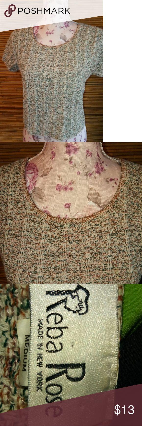Reba Rose Gravel Sweater Sz M Terrific to look at! Reba Rose Sweaters Crew & Scoop Necks