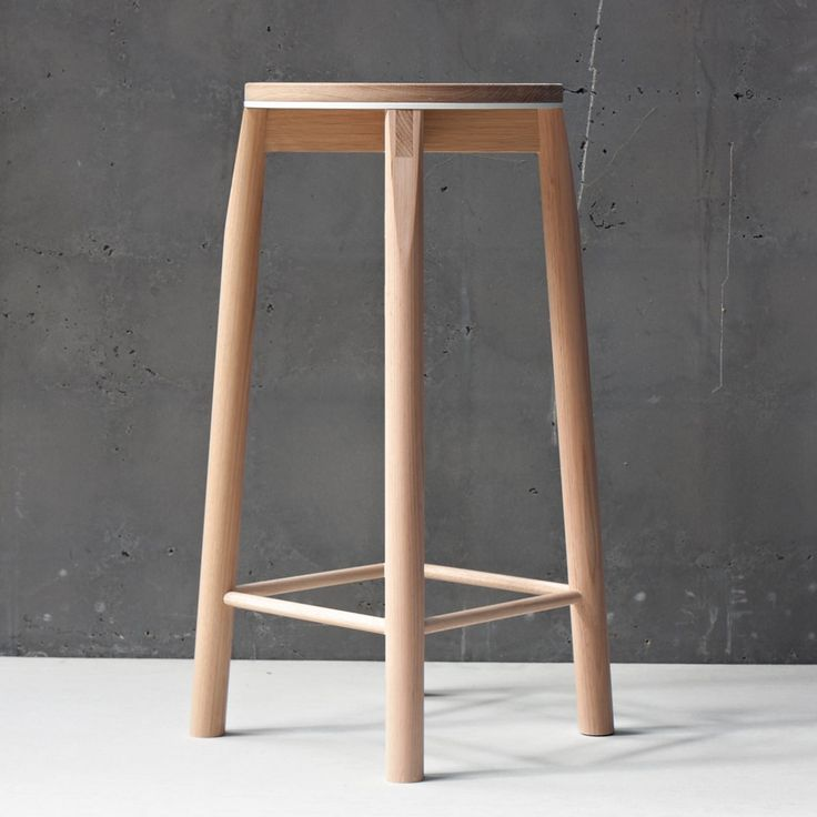 Crop Bar Stool handcrafted from solid oak and aluminium. Customise your's at relm.com.au