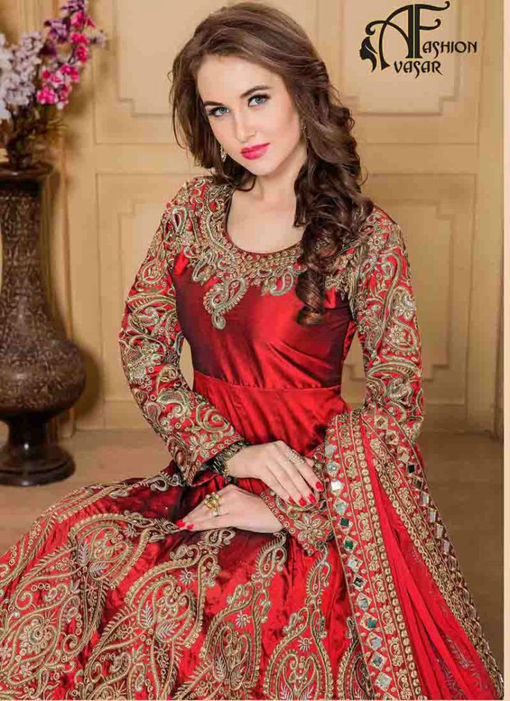 66 best Bridal Salwar Kameez images on Pinterest | Designer ...