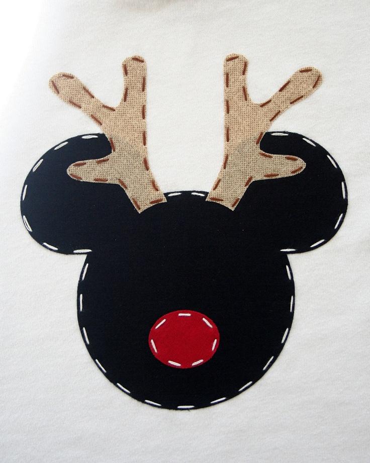 Reindeer Mickey Christmas Shirt.