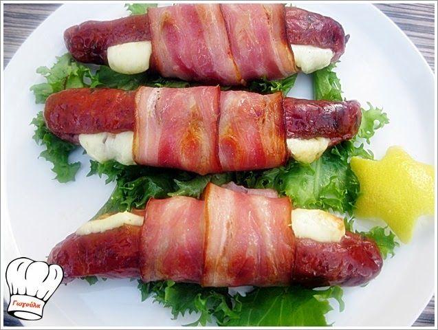 ΛΟΥΚΑΝΙΚΑ ΓΕΜΙΣΤΑ ΜΕ ΓΡΑΒΙΕΡΑ ΚΑΙ ΜΠΕΙΚΟΝ!!! | Νόστιμες Συνταγές της Γωγώς