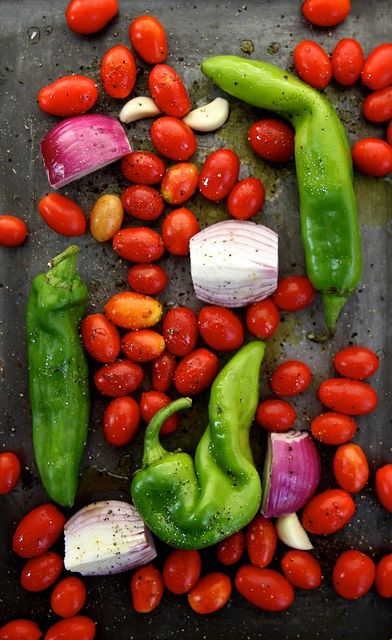 roasted tomato and hatch chile salsa by joy the baker - smoky flavor - not too spicy.  Quick and easy without the chopping.
