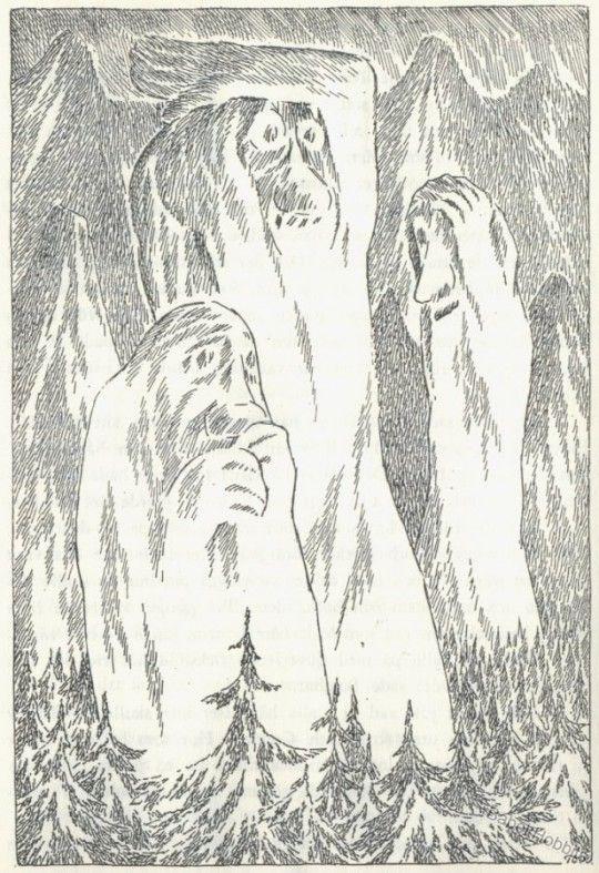 Tove Jansson illustration for 'The Hobbit' by J R R Tolkein,1962
