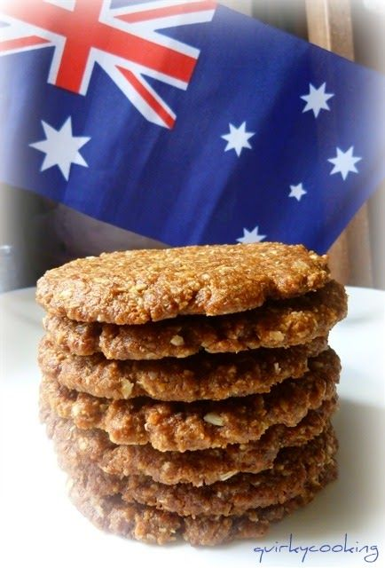 Dairy free, wheat free, egg free, vegan, nut free, naturally sweetened Anzac biscuits.