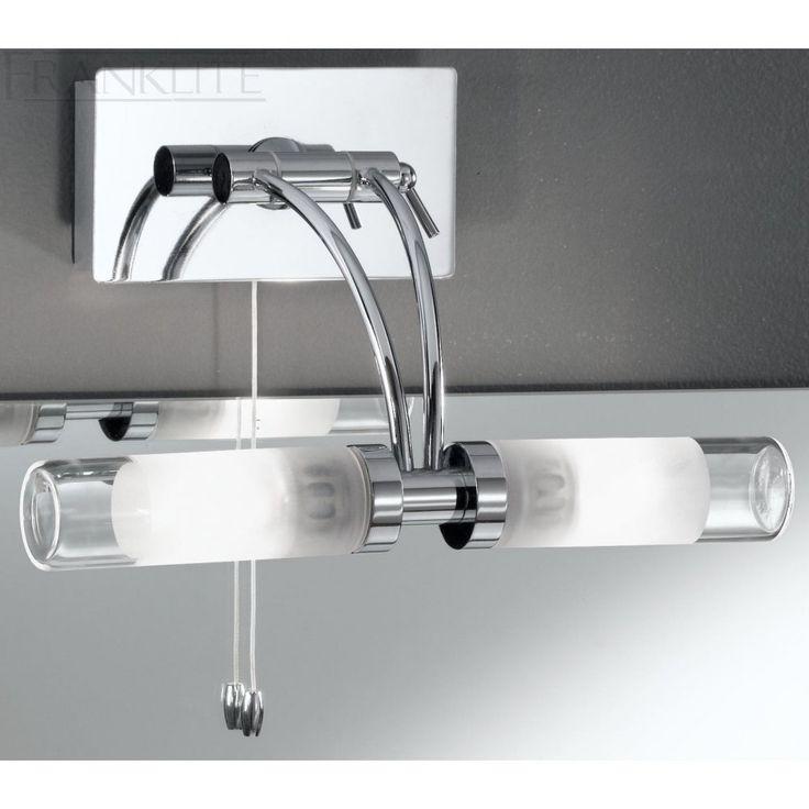 108 best bathroom lighting over mirror images on - Bathroom led light fixtures over mirror ...