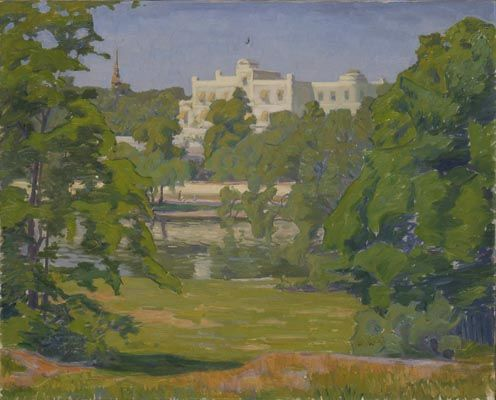 Prince Eugen Napoleon Nicolaus (1865-1947): Oakhill, 1911  Olja på duk