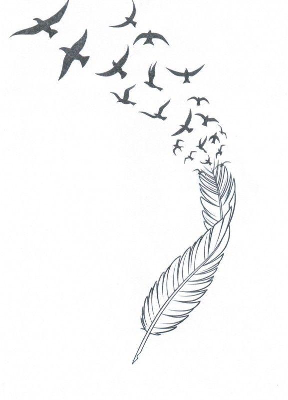 Feather N Birds Tattoo Stencil 1398498548gnk48 Jpg 577