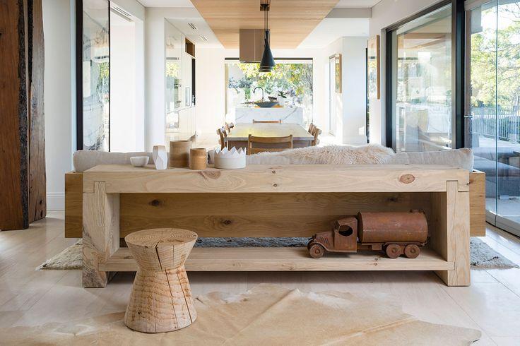 Mark Tuckey Mardi Bench Side Table + Reel Stool H+K Blog - The Relaxed Style of Mark Tuckey
